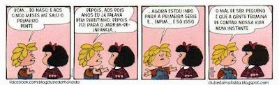 Clube da Mafalda:  Tirinha 728