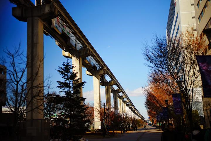 mono-rail in Tokyo