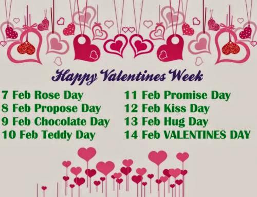 New Valentine Week Schedule 2014 Valentine Week List 2014