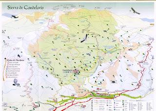 Mapa de la Sierra de Candelario Salamanca