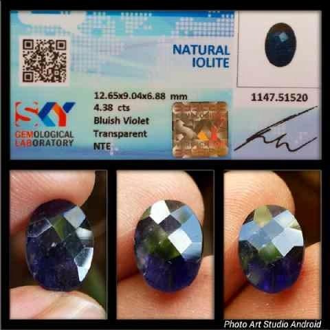Natural Iolite