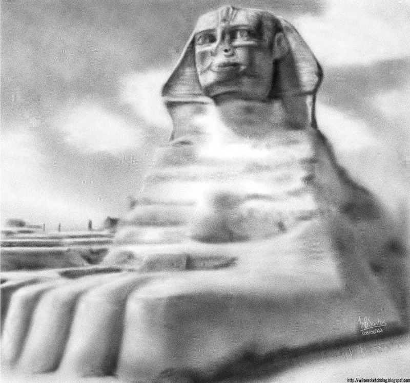 Drawing of the Great Sphinx of Giza, using Krita 2.5 Alpha.