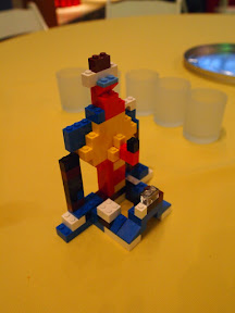 Our Lego dinner tower