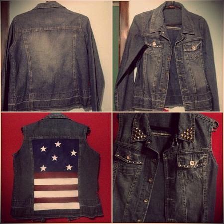 Transformar jaqueta em colete
