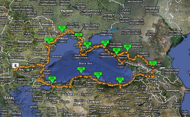 Black Sea Coast Road Georgia To Ukraine Page Horizons - Abkhazia map black sea