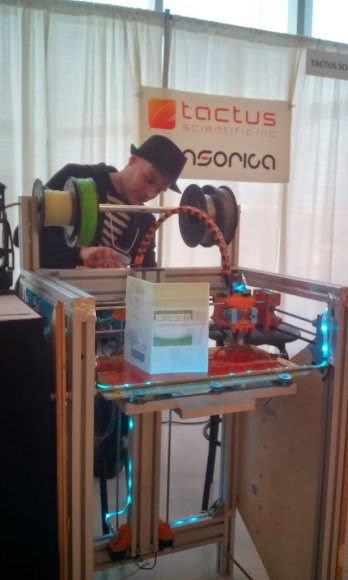 Artro3D printer presented at Salon international d'innovation, Quebec city.