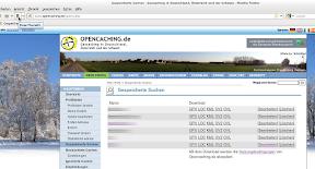 Gespeicherte Suchen - Die PQs bei opencaching.de
