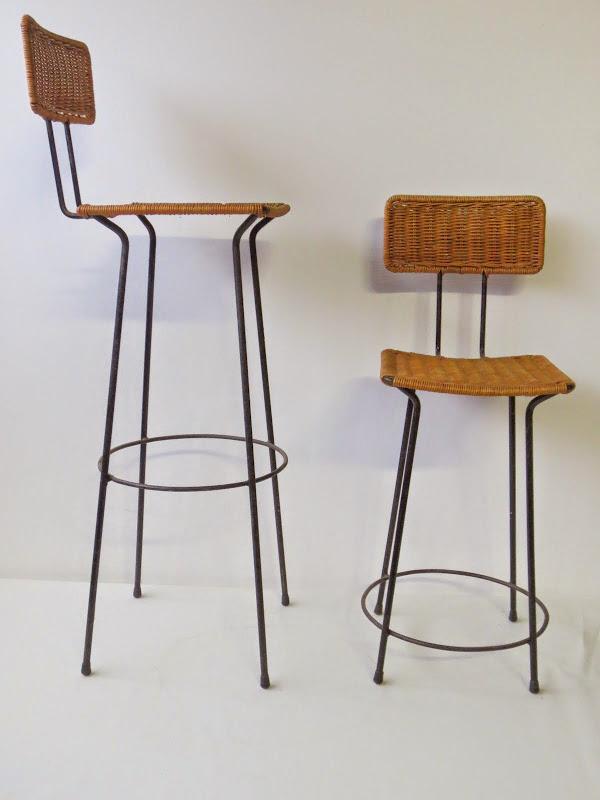 Mid century 50er jahre barhocker barstool chair aub ck for Barhocker 50er jahre