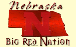 Nebraska cornhuskers Big Red Nation Cream Wallpaper