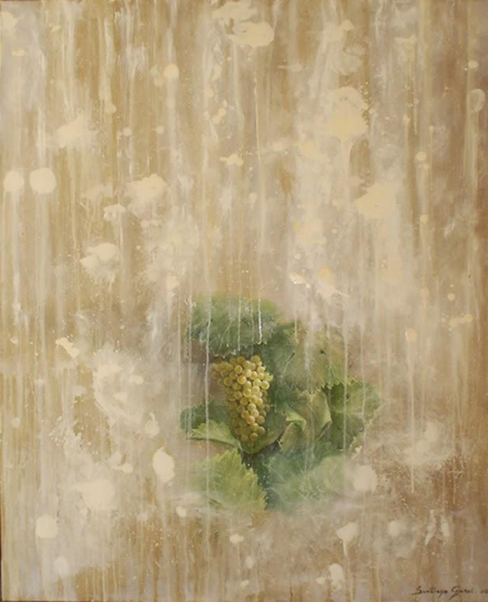 Las uvas VII, Pintura en óleo de Santiago Garci