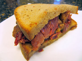 Montreal-style smoked meat sandwich from Fumare Meats, in the Chicago French Market