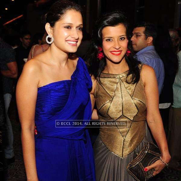 Vidushi and Rima Mehra at designer Shantanu and Nikhil Mehra's Autumn Winter Couture pre and post-show party, hosted at the JW Marriott Hotel New Delhi Aerocity.