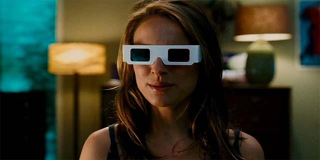 Natalie Portman con gafas 3d