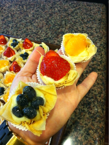 Mini Fruit Tarts with Phyllo (Filo) Dough Cups