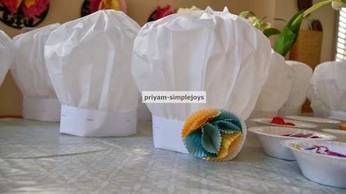 Paper Chef Hats by Priyam-Simple Joys