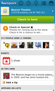 Foursquare v5.5 BlackBerry Apps