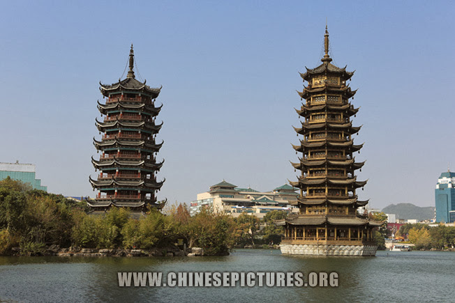 Sun & Moon Twin Towers in Guilin Photo 2