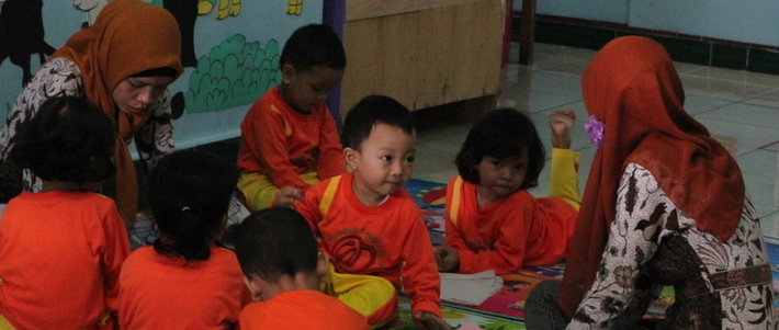Teaching and Learning Activity at KB Holistik Semata Hati School, Karanganyar