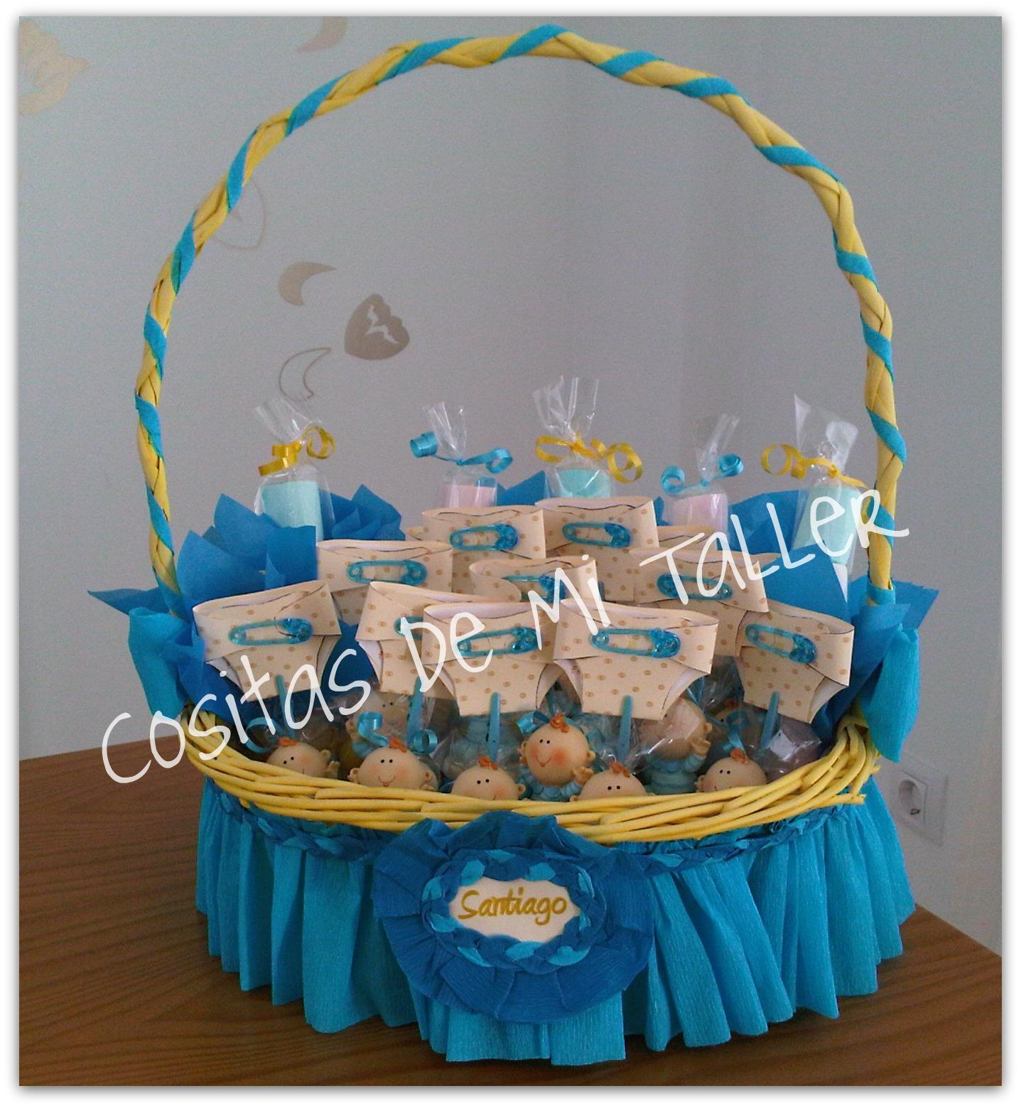 cesta de recuerditos para nacimiento o baby shower