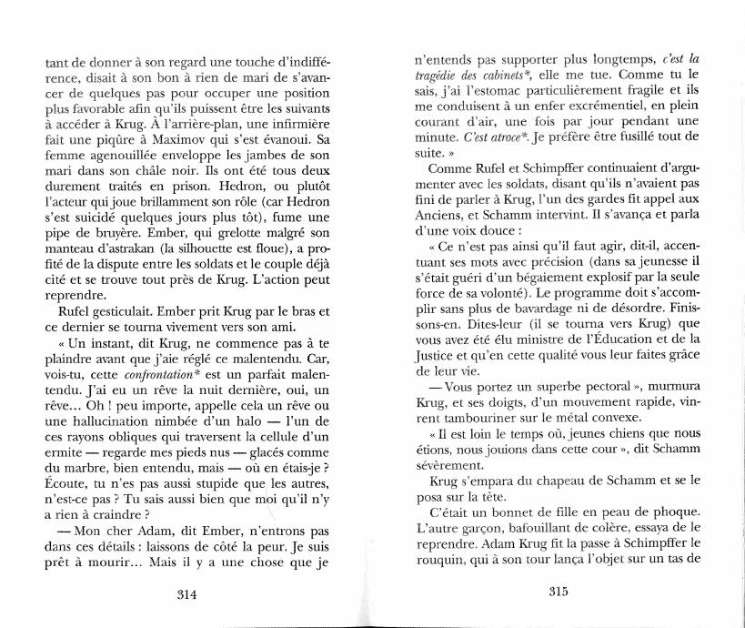 Lexicon angel brisure senestre vladimir nabokov for Farcical traduction