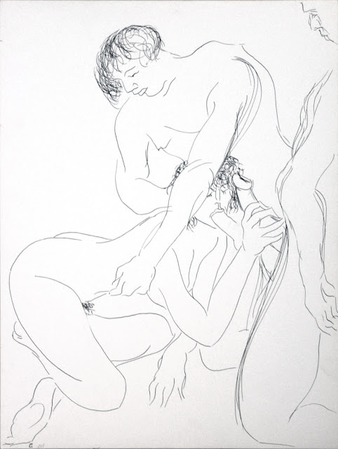 dessin erotique pornographique fellation triolisme