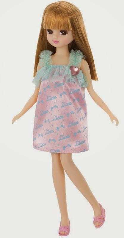 búp bê Licca thời trang váy hồng