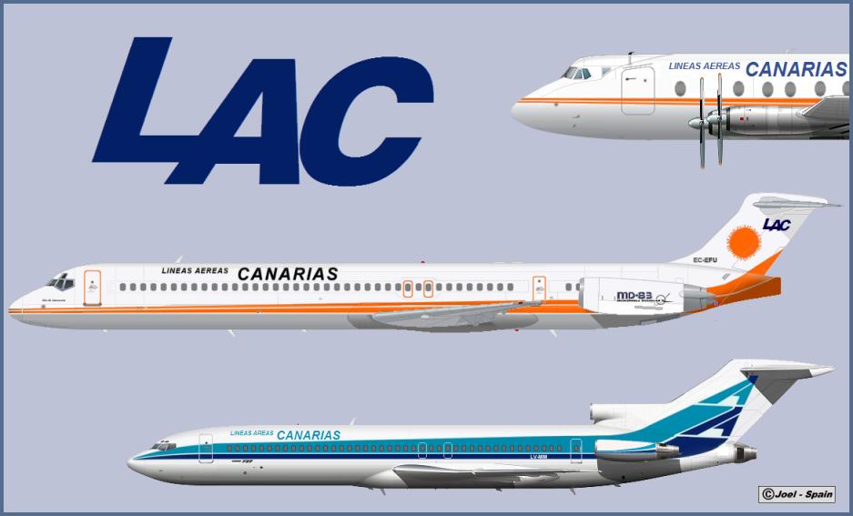 Mi aviacion comercial lac lineas aereas canarias s a - Transporte entre islas canarias ...