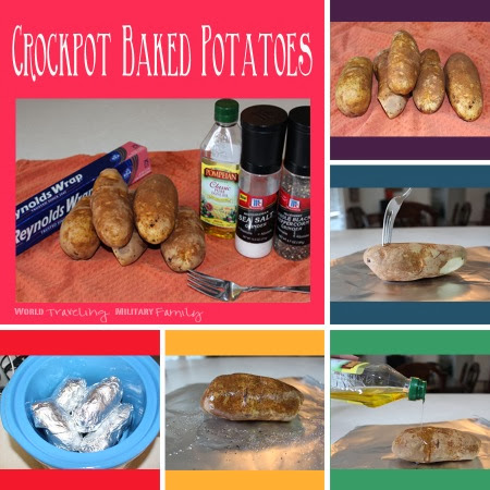 Crockpot Baked Potatoes - Simplify Dinner