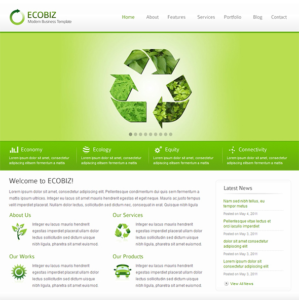 Ecobiz Green WordPress Theme