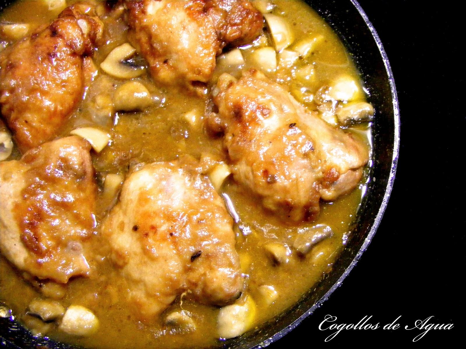 Pollo en Salsa Con Champiñones su Pollo Con Champiñones y