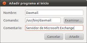 Microsoft Exchange funcionando en Thunderbird con Davmail