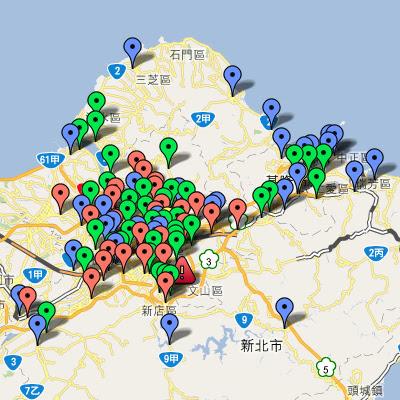 中油直營站地圖(北北基)