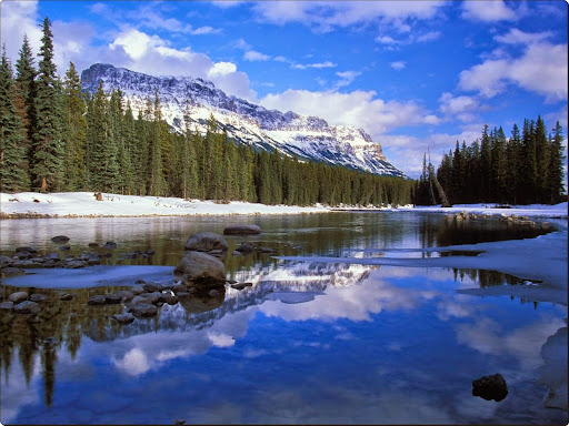 Bow River and Castle Mountain, Alberta, Canada.jpg