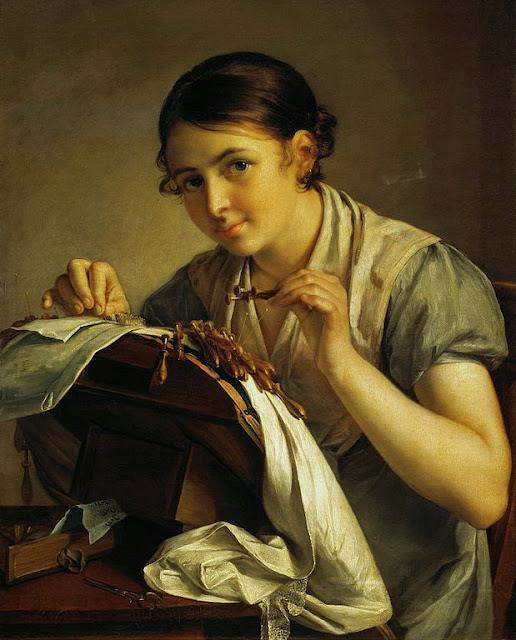 Vasily Tropinin - Lace maker - Google Art Project