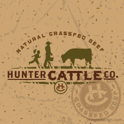 Hunter Cattle Company Logo design Savannah, Georgia