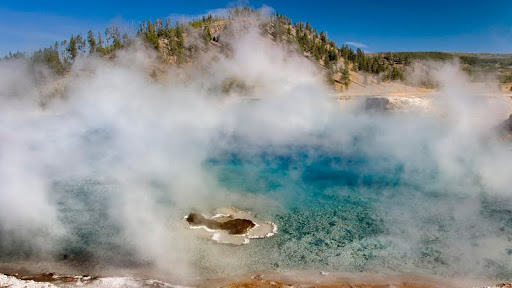Excelsior Geyser Crater, Prismatic Pools, Yellowstone National Park, Wyoming.jpg