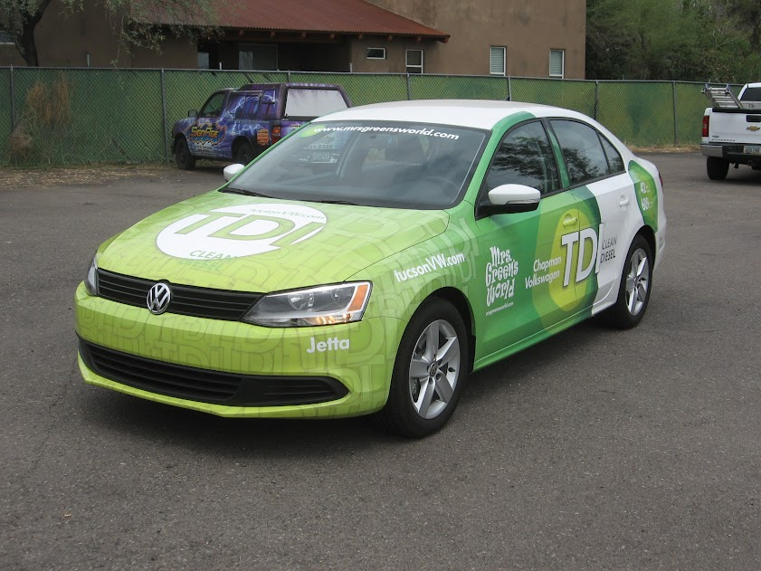 Mrs. Green's World Vehicle Wrap in Tucson