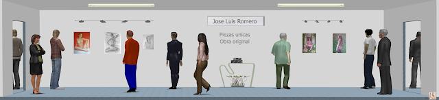 Sala de exposición virtual de pinturas de Jose Luis Romero Rodríguez