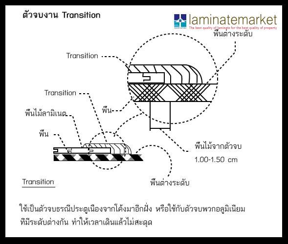 อุปกรณ์ตัวจบงานพื้นไม้ลามิเนต Transition