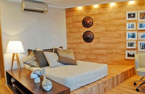 Dormitorio madera - Decoracion casas de madera ...