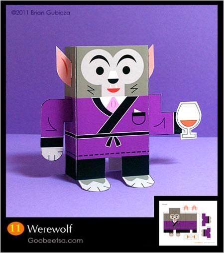 Goobeetsa Werewolf Paper Toy
