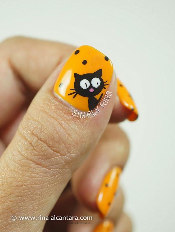 Black Cats Inspired Halloween Nail Art