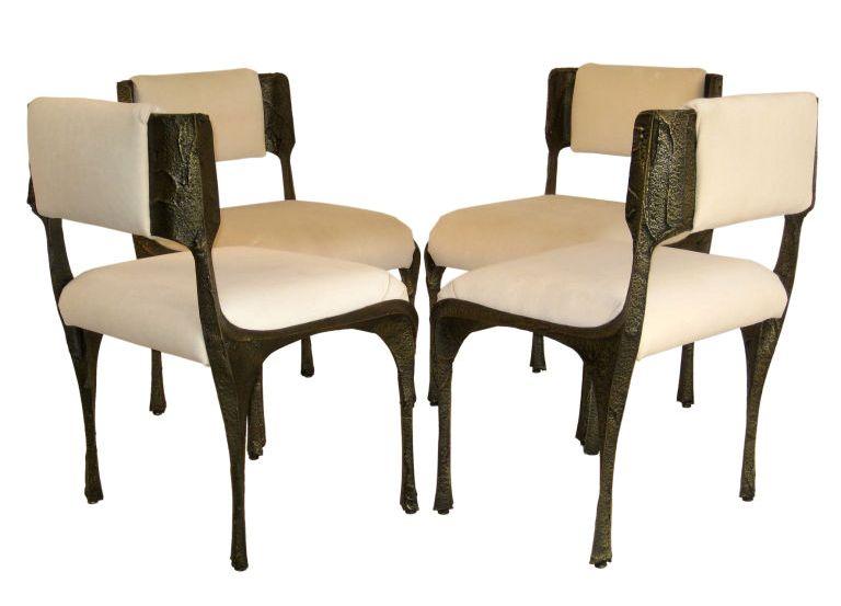 Wonderful Bronze Sculpted Chairs 1stdibs.com
