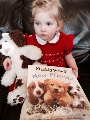 Maegan Clement reading Muddypaws New Friends by Steve Smallman and Simon Mendez