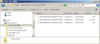 Activar el modo ARCHIVELOG en Oracle 11g R2