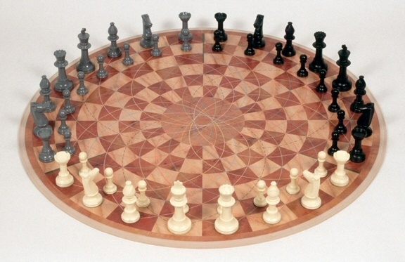 3 Player Circle Chess Set