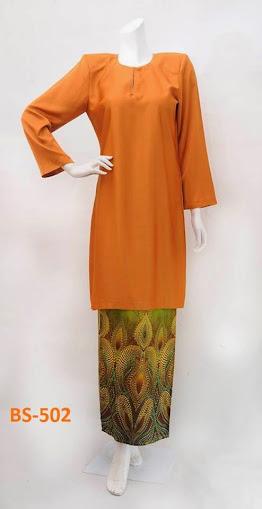 Baju Raya 2014 Baju Kurung Moden Baju Kurung Malaysia Oren Online Murah