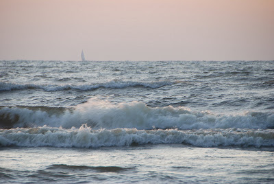watch the sunset, Lake Michigan