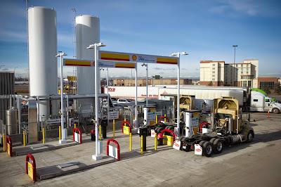 Przykładowa stacja tankowania LNG