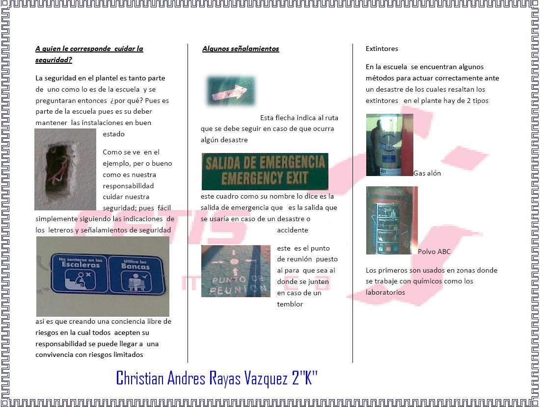 kizer folleto seguridad escolar